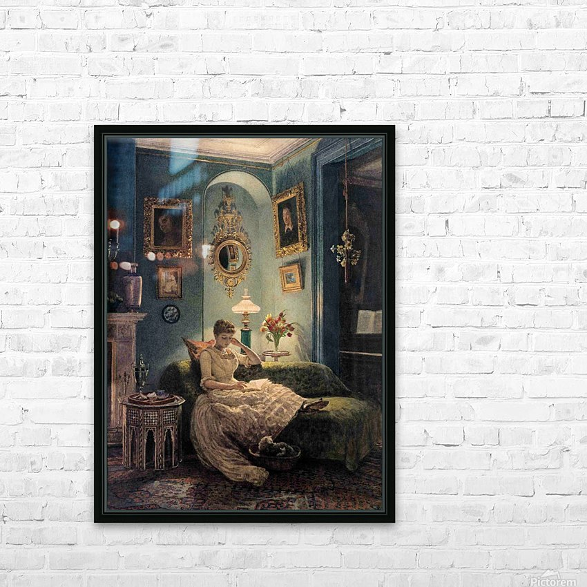Evening at home HD Sublimation Metal print with Decorating Float Frame (BOX)