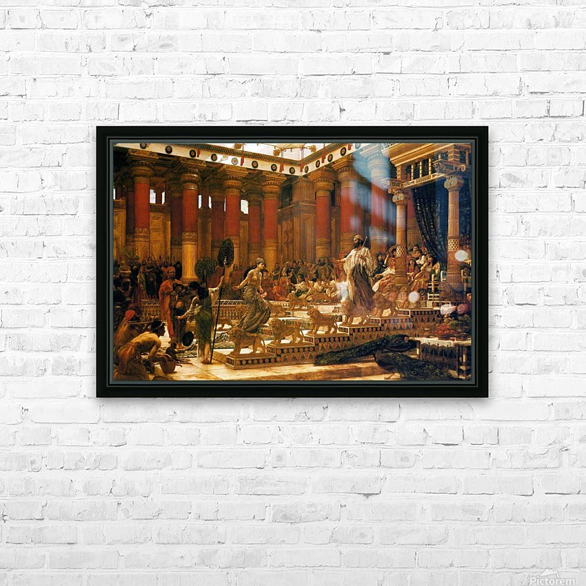 The Visit of the Queen of Sheba to King Solomon HD Sublimation Metal print with Decorating Float Frame (BOX)