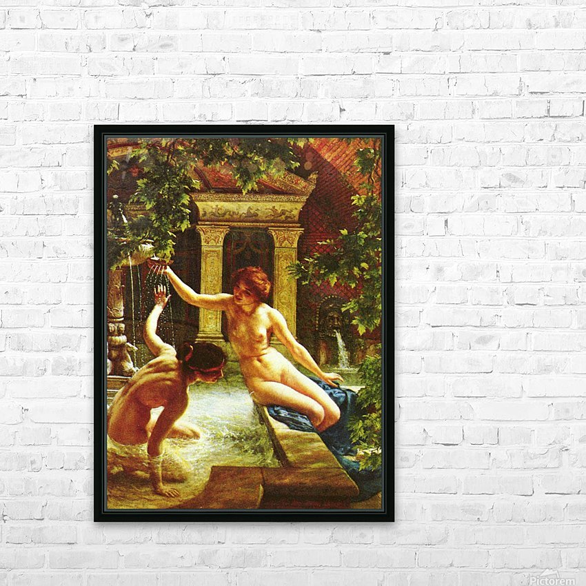 Water babies HD Sublimation Metal print with Decorating Float Frame (BOX)