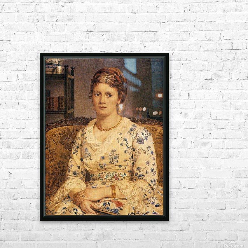 Portrait of Mrs J P Heselitine HD Sublimation Metal print with Decorating Float Frame (BOX)