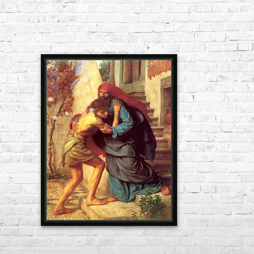 The return of the prodigal son HD Sublimation Metal print with Decorating Float Frame (BOX)