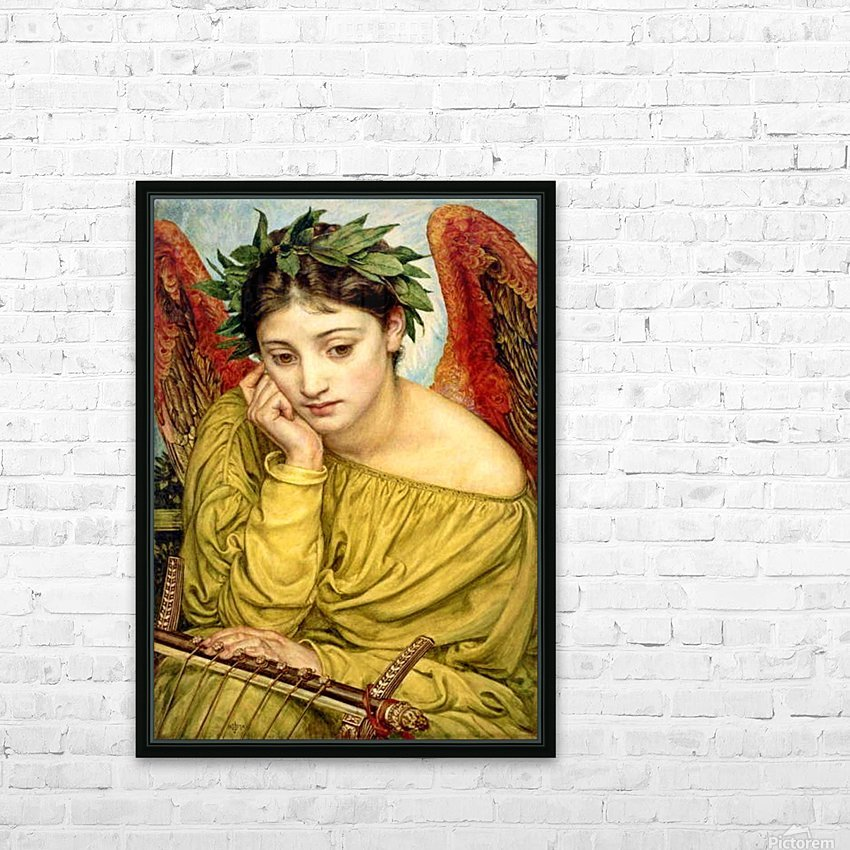Erato, Muse of Poetry HD Sublimation Metal print with Decorating Float Frame (BOX)