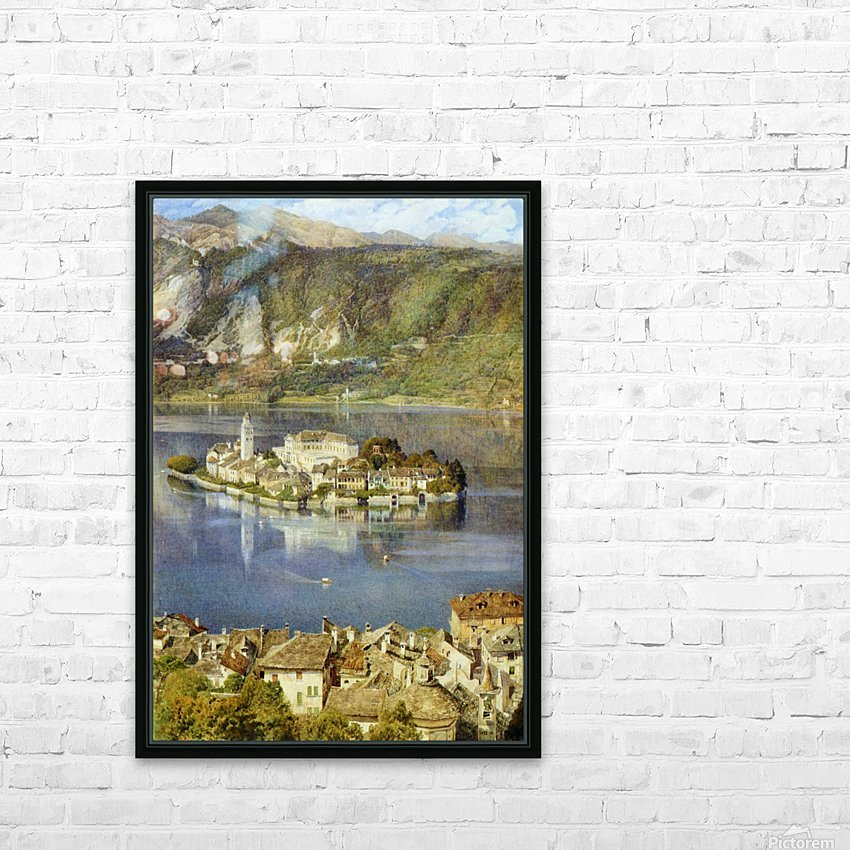 Isola San Giulio, 1898 HD Sublimation Metal print with Decorating Float Frame (BOX)