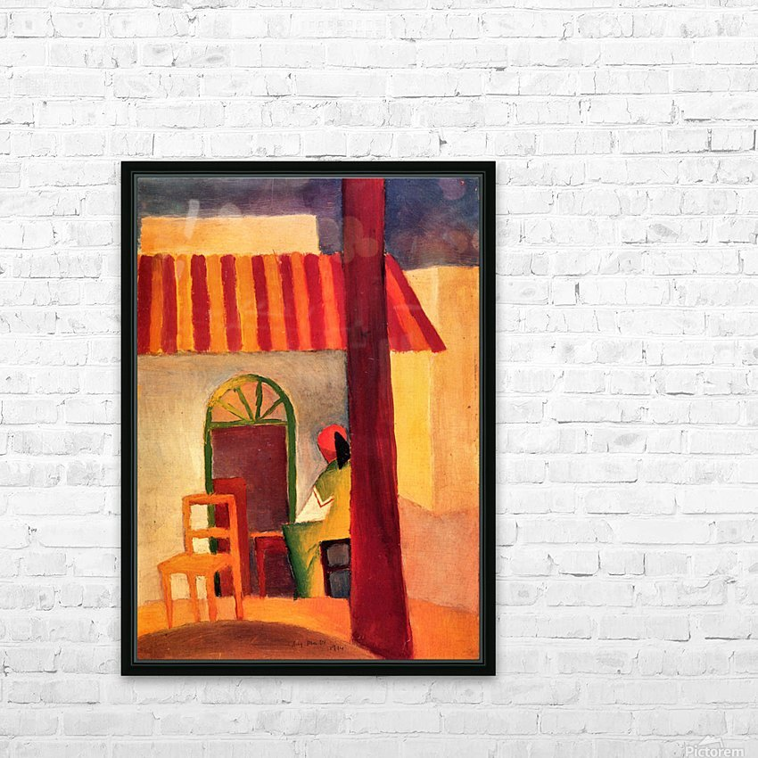 Turkish Cafe by August Macke HD Sublimation Metal print with Decorating Float Frame (BOX)