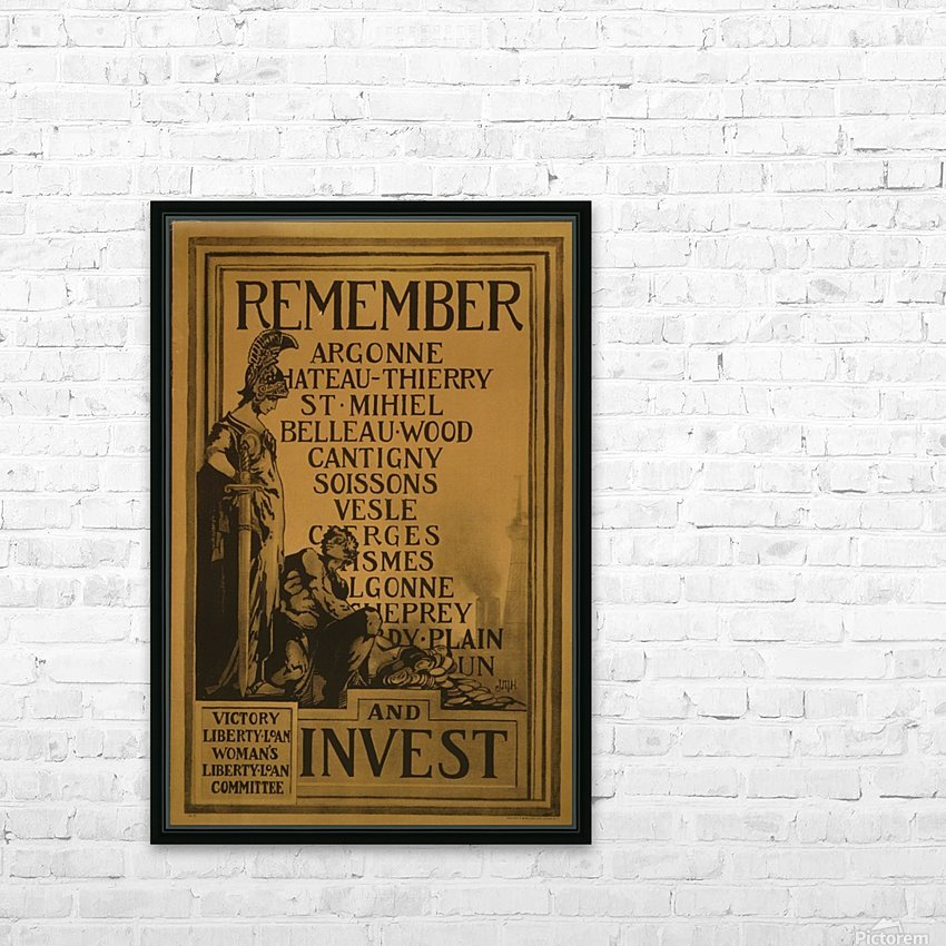 Invest HD Sublimation Metal print with Decorating Float Frame (BOX)