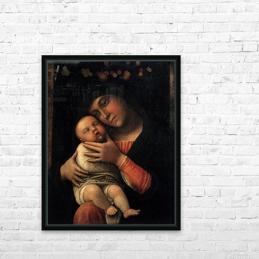 Portrait of Virgin and Child HD Sublimation Metal print with Decorating Float Frame (BOX)