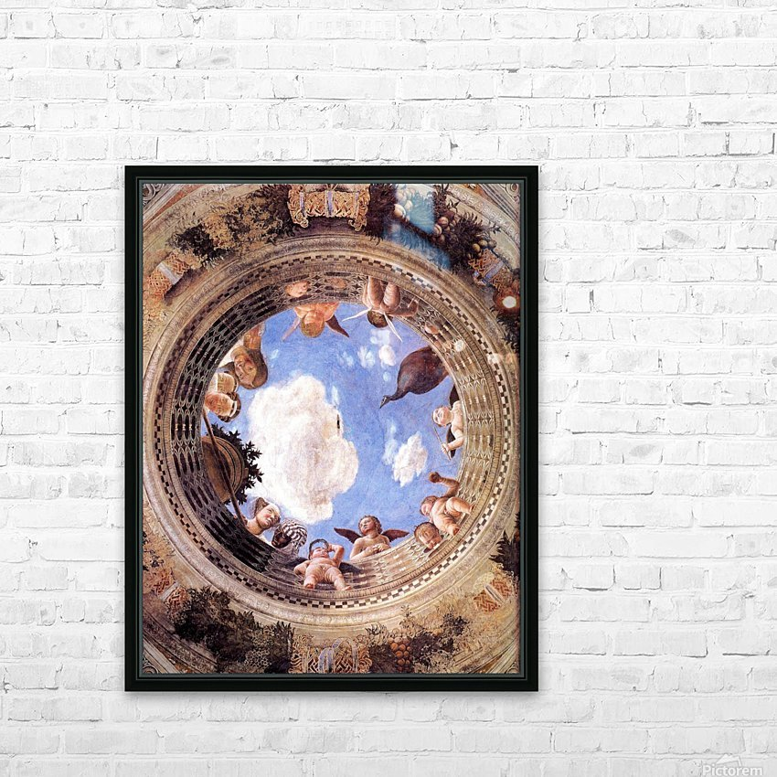 Mantegna Ceiling Oculus in the Camera degli Sposi, Mantova HD Sublimation Metal print with Decorating Float Frame (BOX)