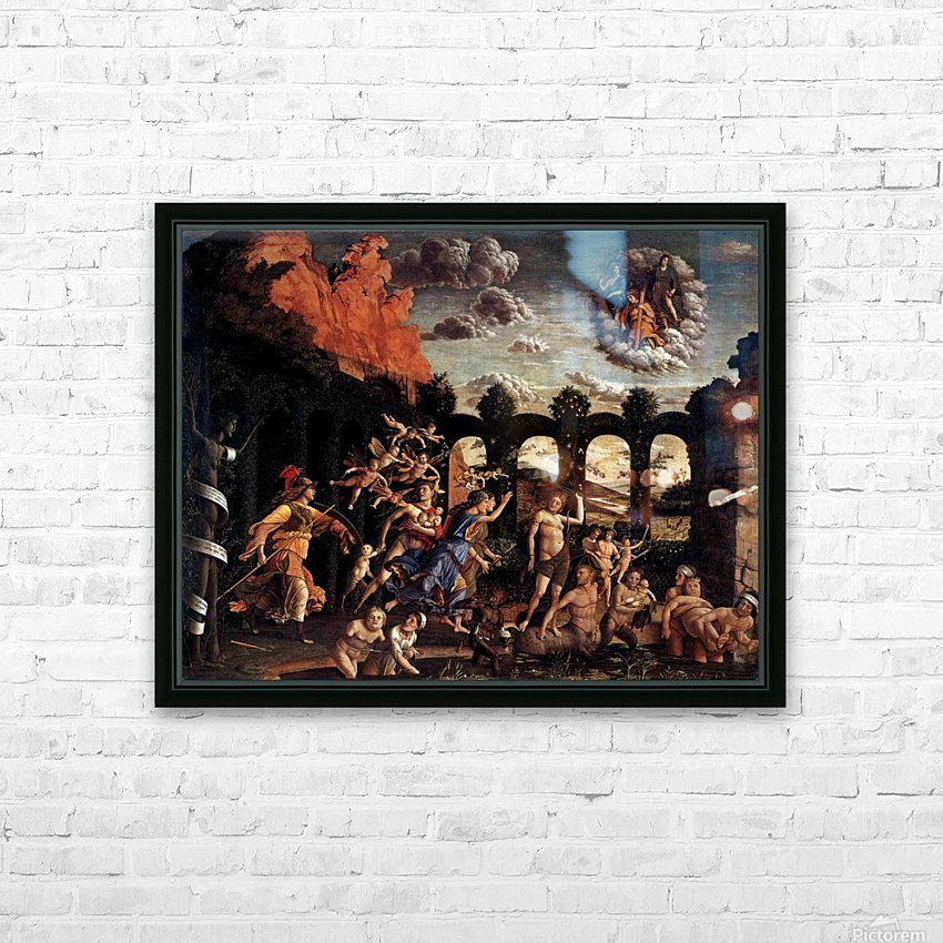 Pallas Expelling the Vices from the Garden of Virtue HD Sublimation Metal print with Decorating Float Frame (BOX)