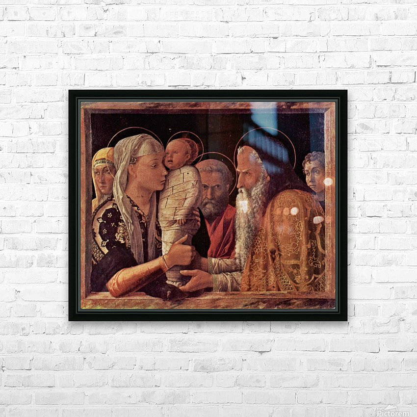 Presentation of Jesus at the Temple HD Sublimation Metal print with Decorating Float Frame (BOX)