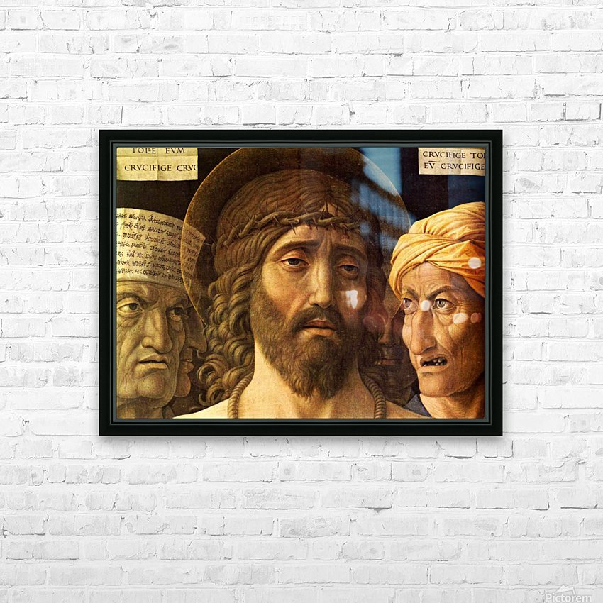 Ecce Homo detail HD Sublimation Metal print with Decorating Float Frame (BOX)