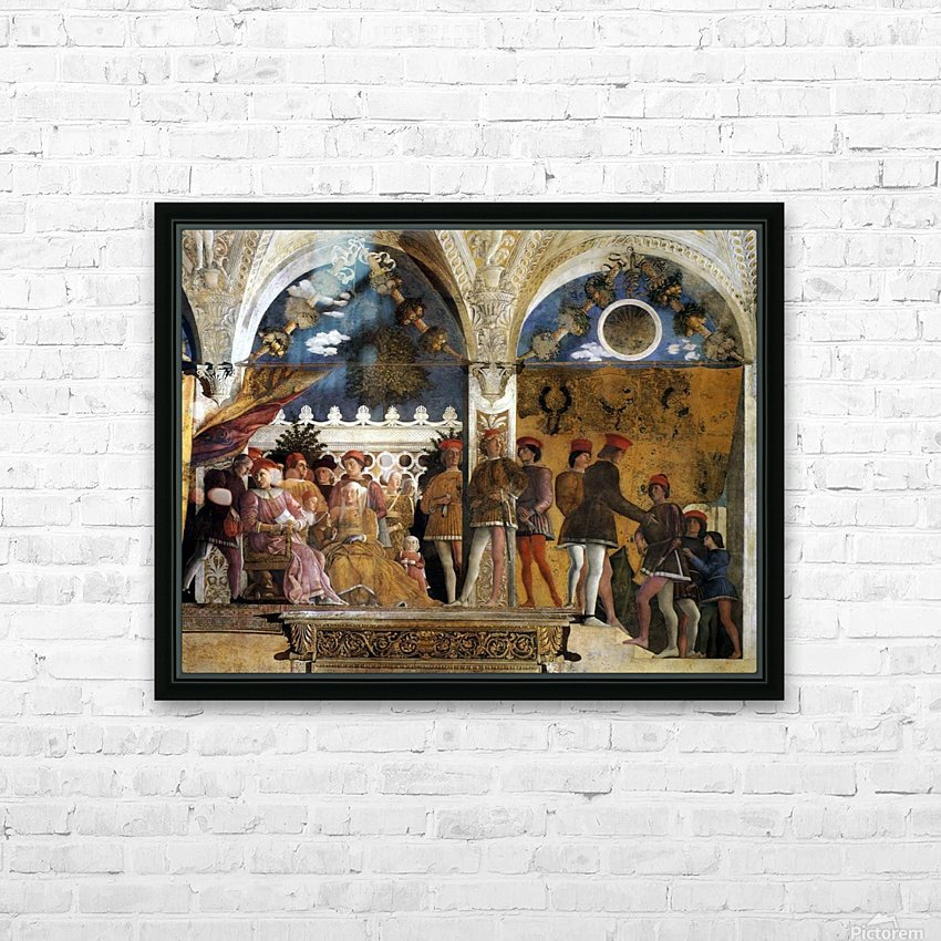 The Court of Mantua HD Sublimation Metal print with Decorating Float Frame (BOX)