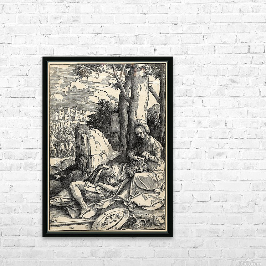 Samson and Delilah HD Sublimation Metal print with Decorating Float Frame (BOX)