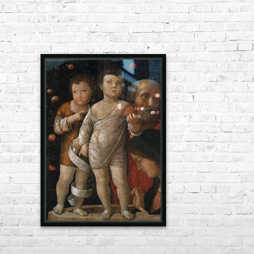 The Holy Family with St John HD Sublimation Metal print with Decorating Float Frame (BOX)