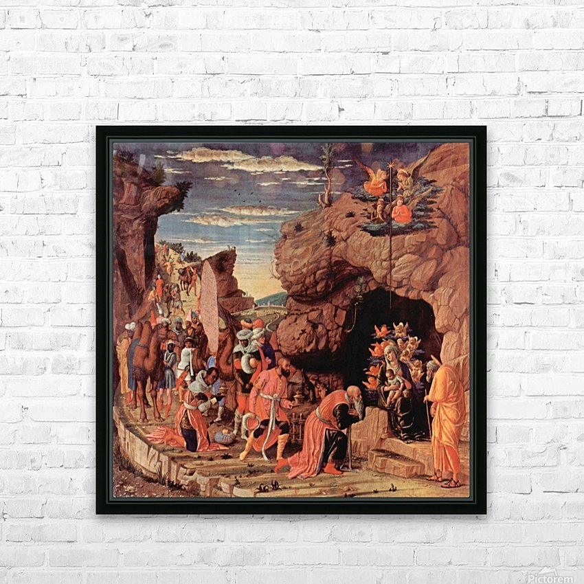 Adoration of the Magi HD Sublimation Metal print with Decorating Float Frame (BOX)
