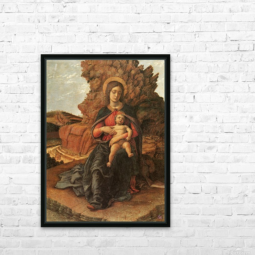 Madonna of the Cave HD Sublimation Metal print with Decorating Float Frame (BOX)