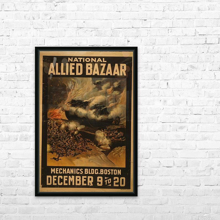 National Allied Bazaar HD Sublimation Metal print with Decorating Float Frame (BOX)