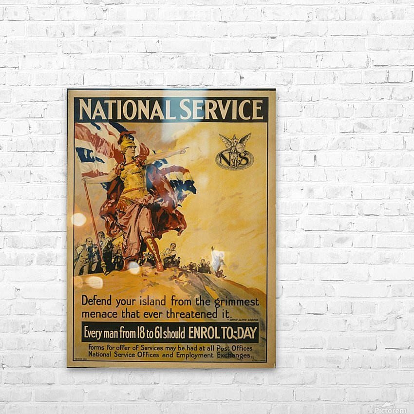 National Service HD Sublimation Metal print with Decorating Float Frame (BOX)