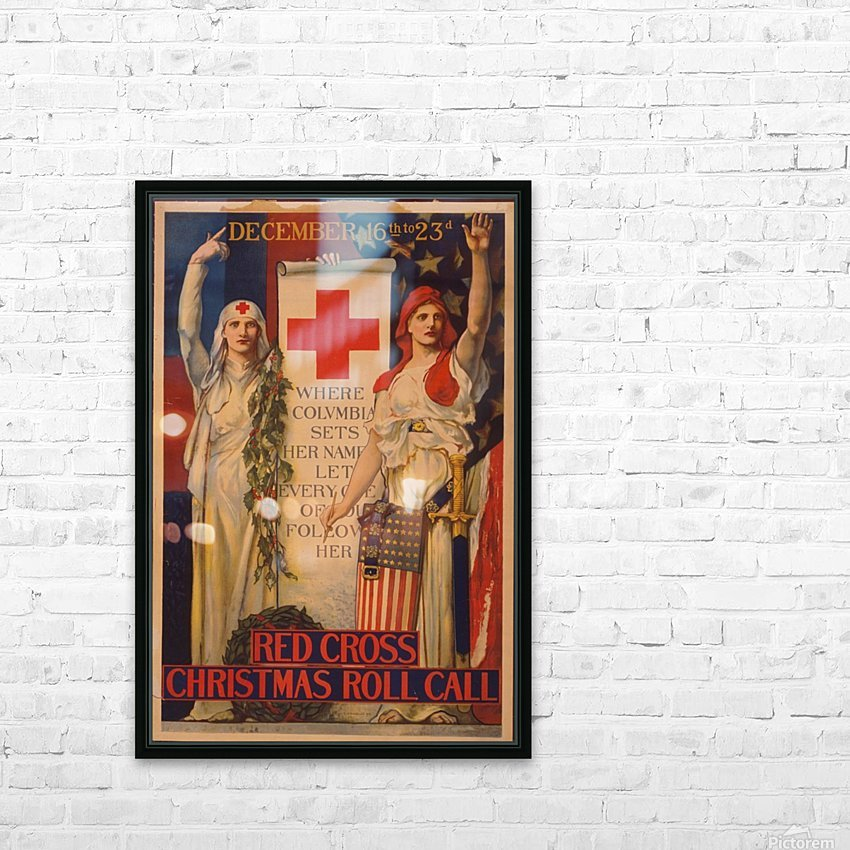 Red Cross HD Sublimation Metal print with Decorating Float Frame (BOX)