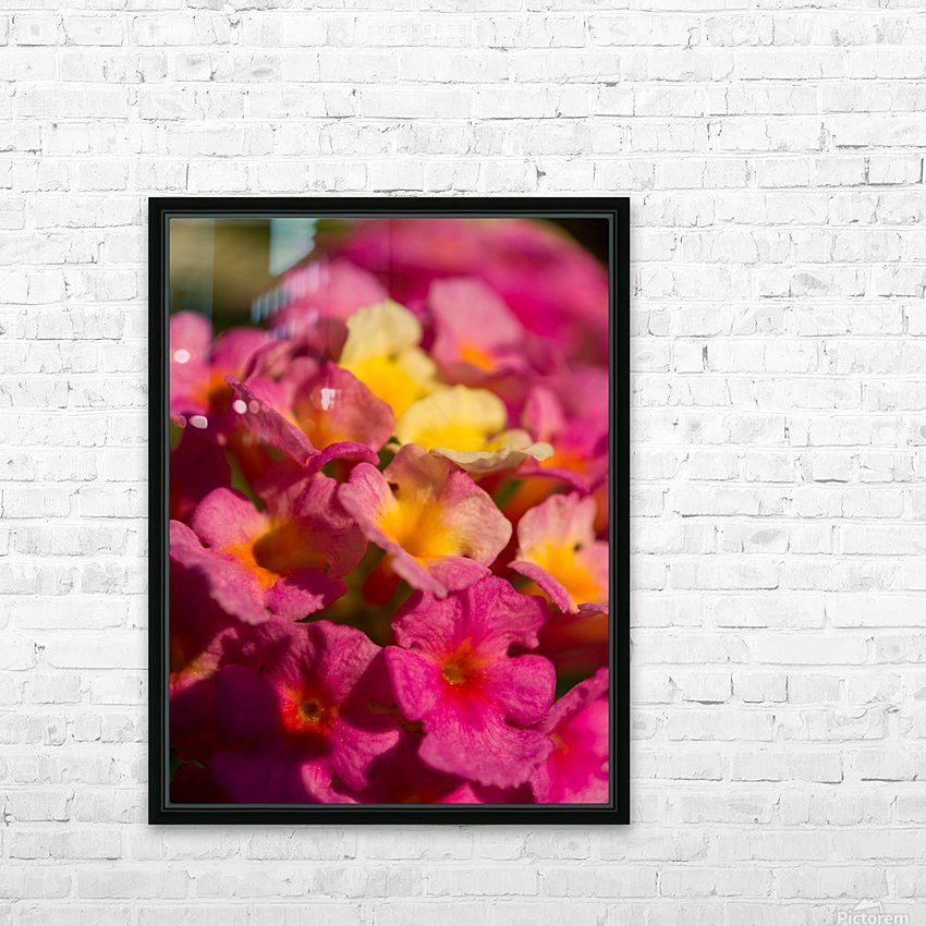 flowers 1 HD Sublimation Metal print with Decorating Float Frame (BOX)