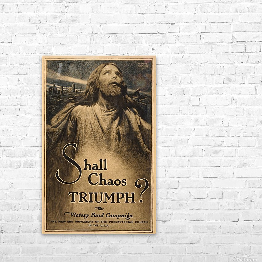 Shall Chaos Triumph! HD Sublimation Metal print with Decorating Float Frame (BOX)
