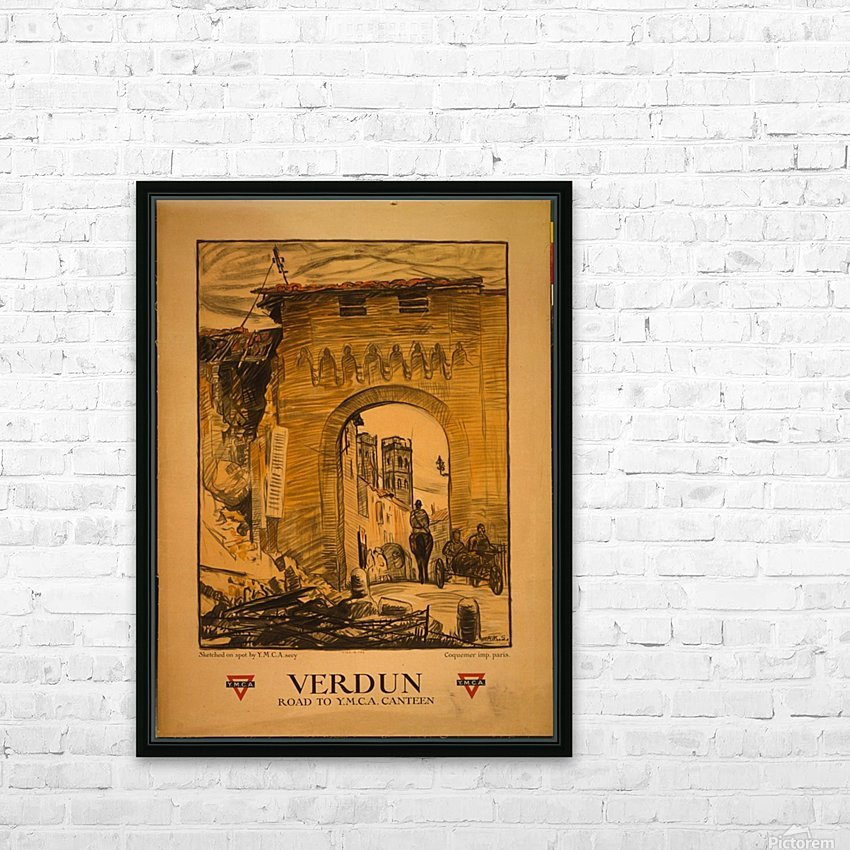 Verdun HD Sublimation Metal print with Decorating Float Frame (BOX)