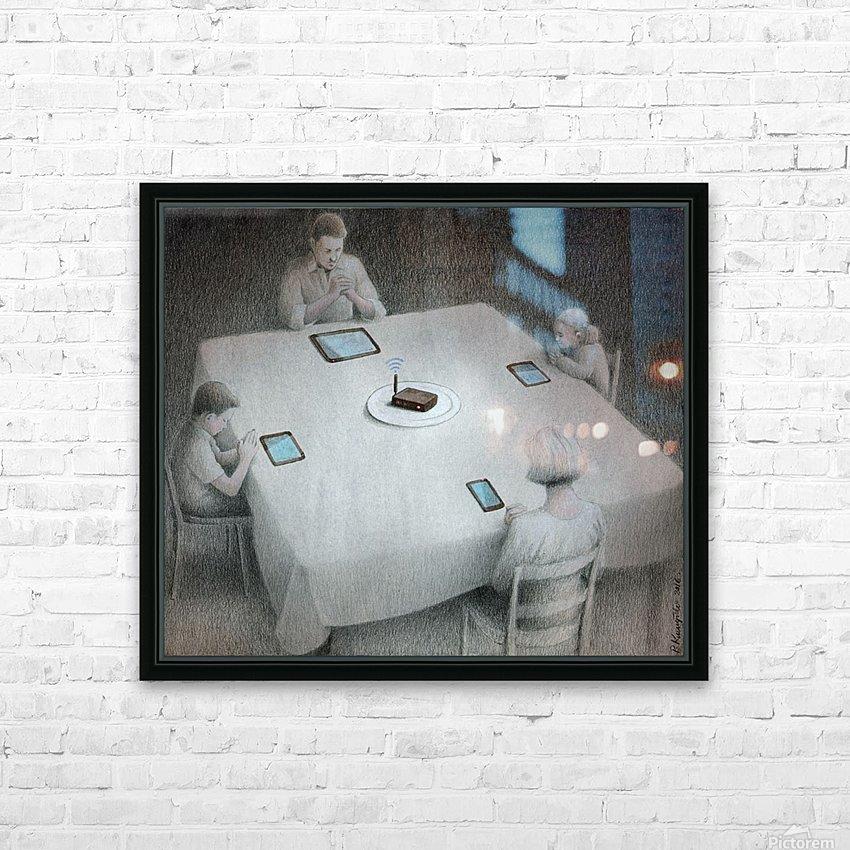 dinner HD sublimation métal imprimé avec décoration flotteur cadre (boîte)