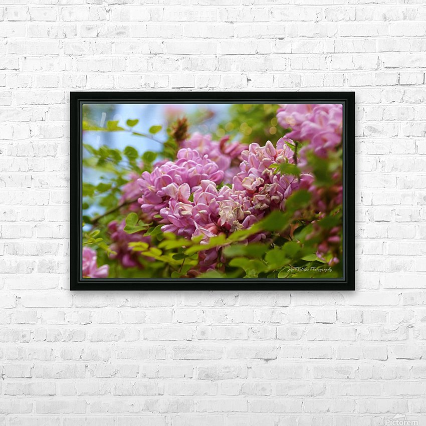 Rose Acacia  HD Sublimation Metal print with Decorating Float Frame (BOX)
