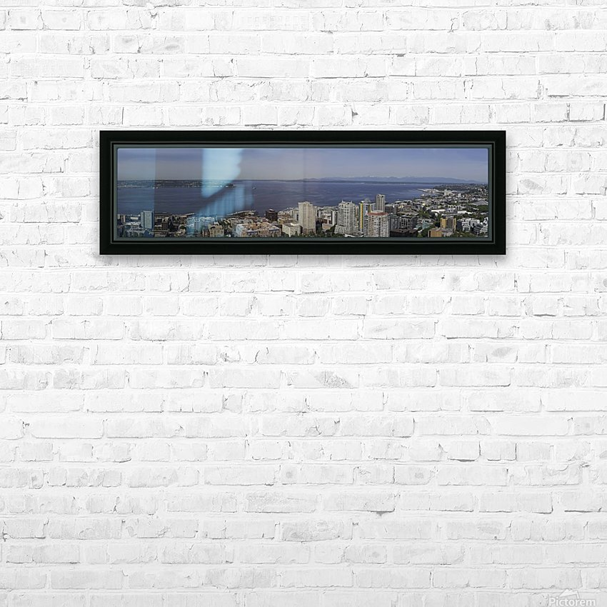 Westward Seattle Panoramic HD Sublimation Metal print with Decorating Float Frame (BOX)