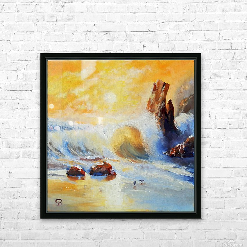 Rough wave   Garrapata beach – California State Park. HD Sublimation Metal print with Decorating Float Frame (BOX)