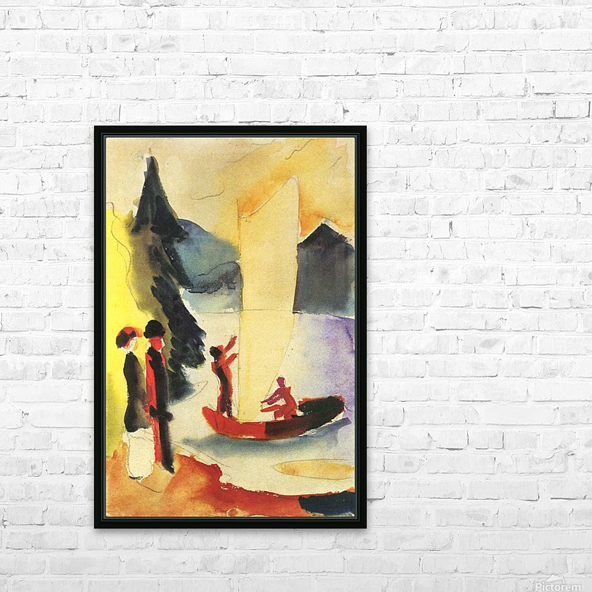 Yellow Sail by August Macke HD Sublimation Metal print with Decorating Float Frame (BOX)