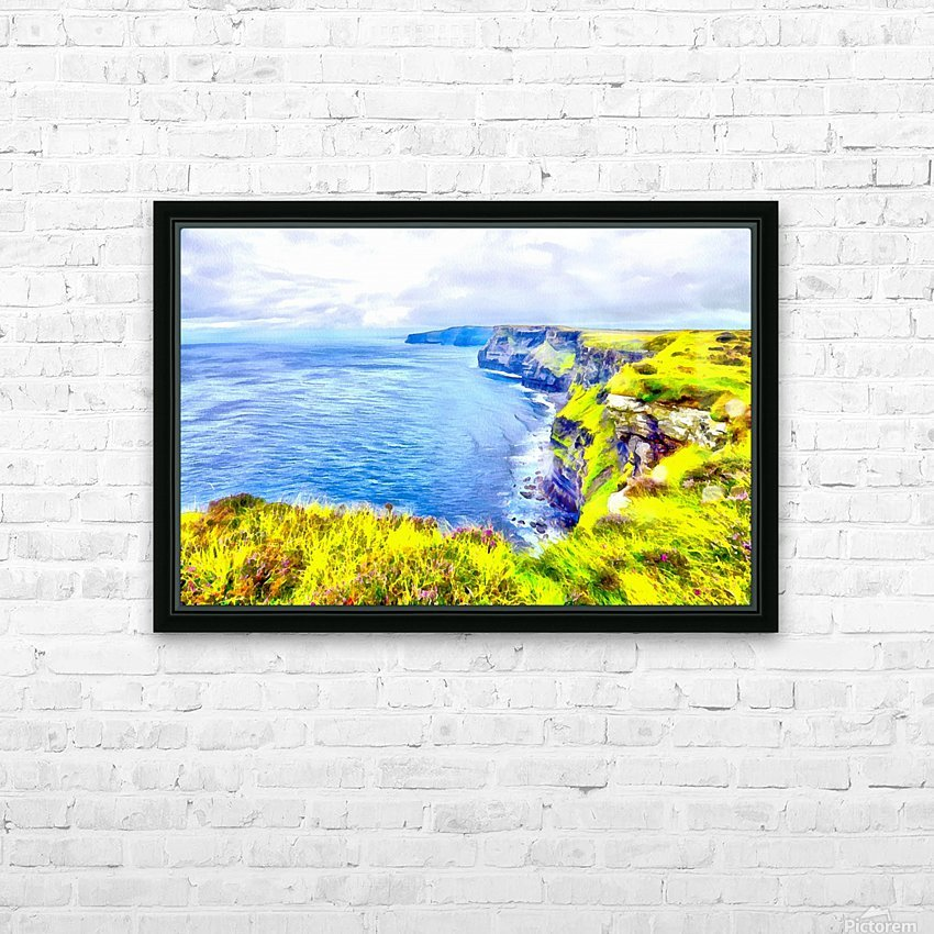 CLIFFS OF MOHER 1 AZO HD Sublimation Metal print with Decorating Float Frame (BOX)