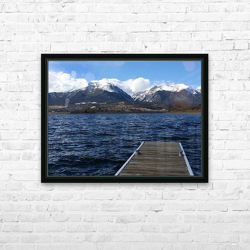 Denver Lake HD Sublimation Metal print with Decorating Float Frame (BOX)
