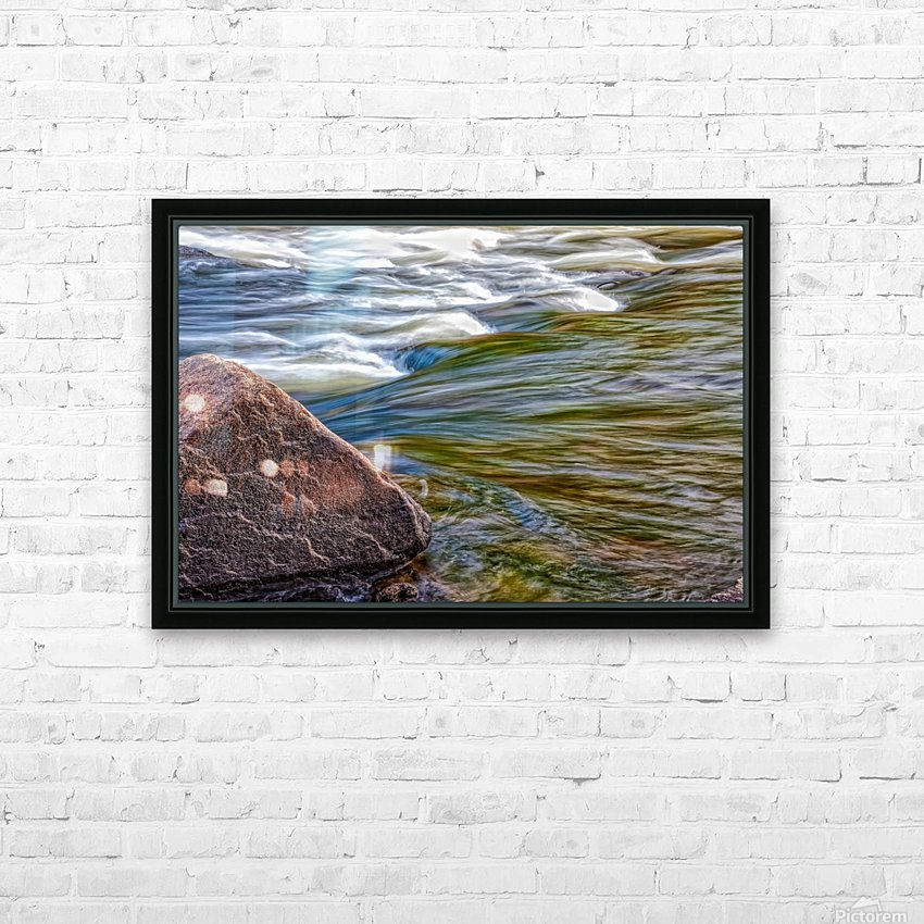 River Flow HD Sublimation Metal print with Decorating Float Frame (BOX)