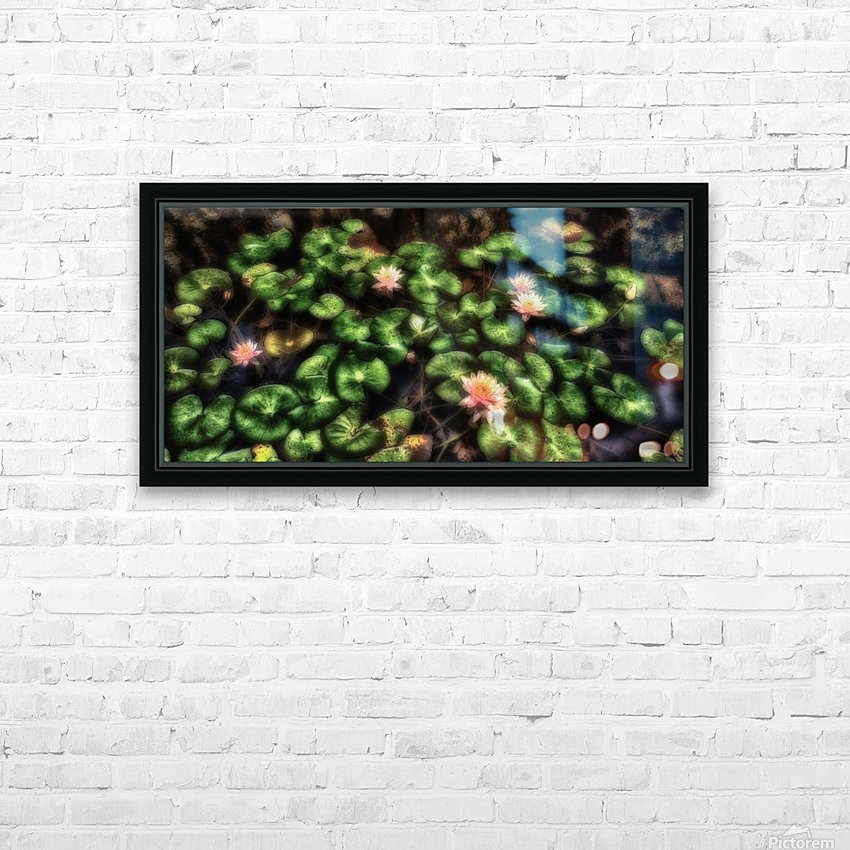 Lillypad HD Sublimation Metal print with Decorating Float Frame (BOX)