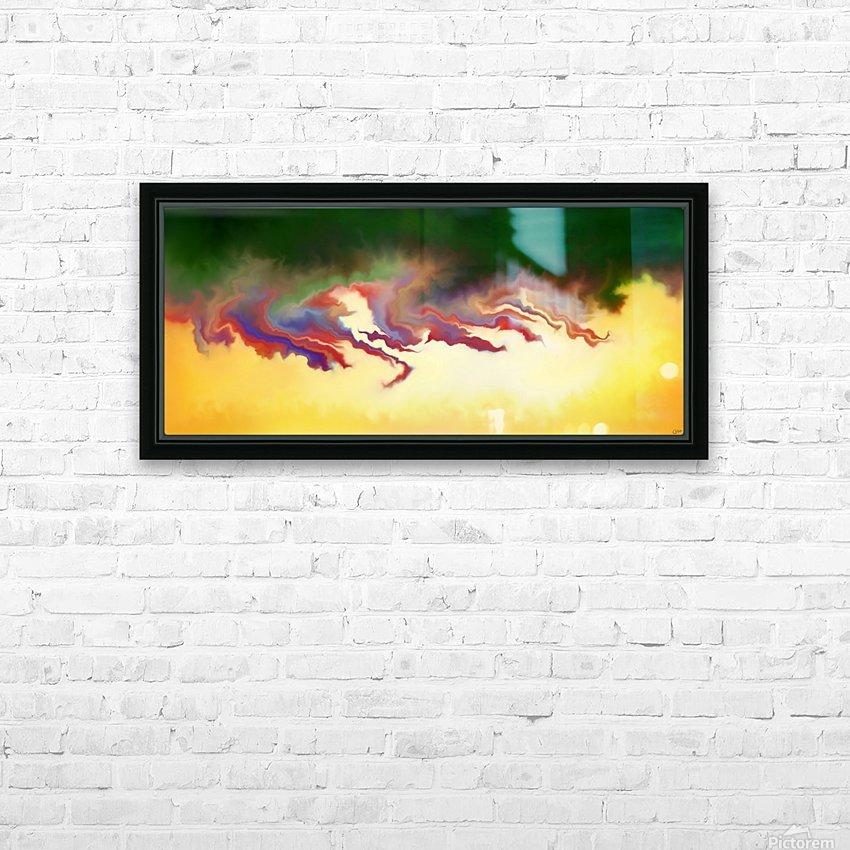 Obadiani V1 - digital abstract HD Sublimation Metal print with Decorating Float Frame (BOX)