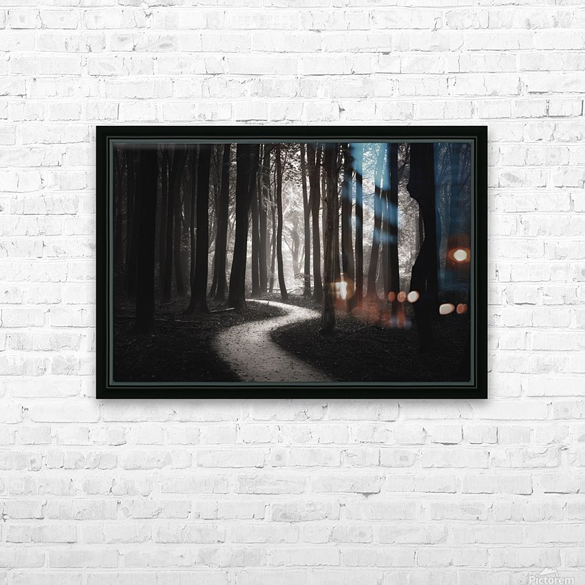 Snakes path HD Sublimation Metal print with Decorating Float Frame (BOX)
