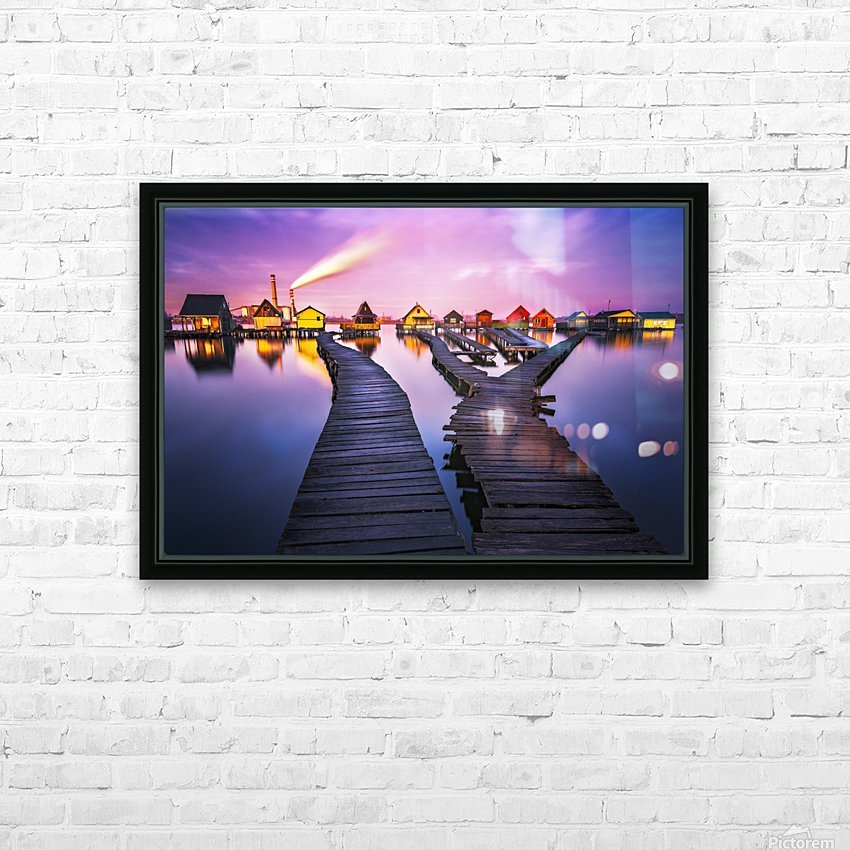 Two worlds HD Sublimation Metal print with Decorating Float Frame (BOX)
