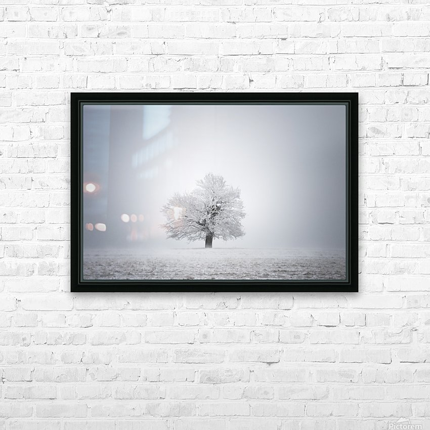 White solitude and light HD Sublimation Metal print with Decorating Float Frame (BOX)