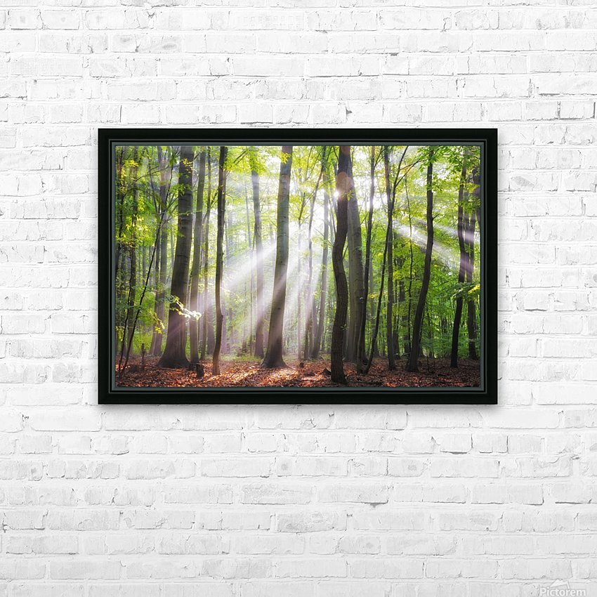 When the sun shine on your way HD Sublimation Metal print with Decorating Float Frame (BOX)
