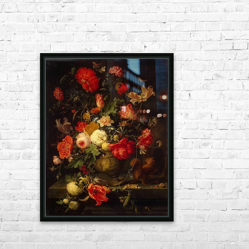 Flowers and small animals HD Sublimation Metal print with Decorating Float Frame (BOX)