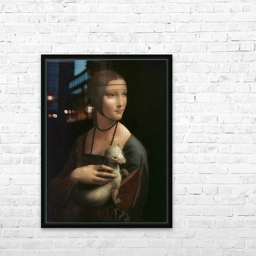 The Lady with Ermine HD Sublimation Metal print with Decorating Float Frame (BOX)