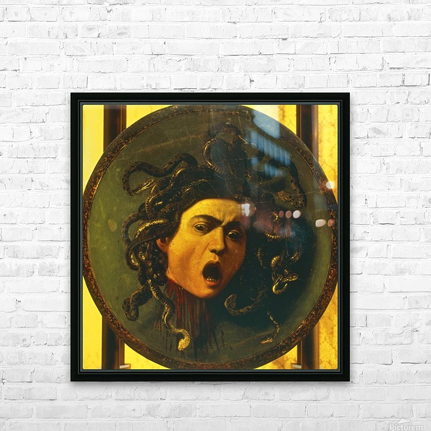 Medusa Shield HD Sublimation Metal print with Decorating Float Frame (BOX)