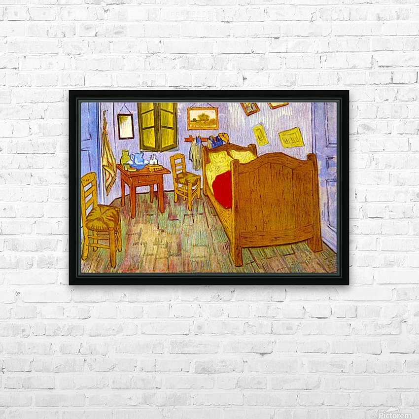 Bedroom at Arles by van Gogh HD Sublimation Metal print with Decorating Float Frame (BOX)