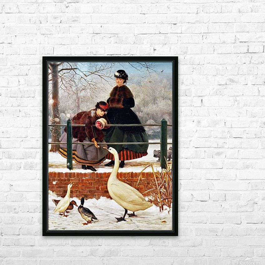 Winter Walk HD Sublimation Metal print with Decorating Float Frame (BOX)
