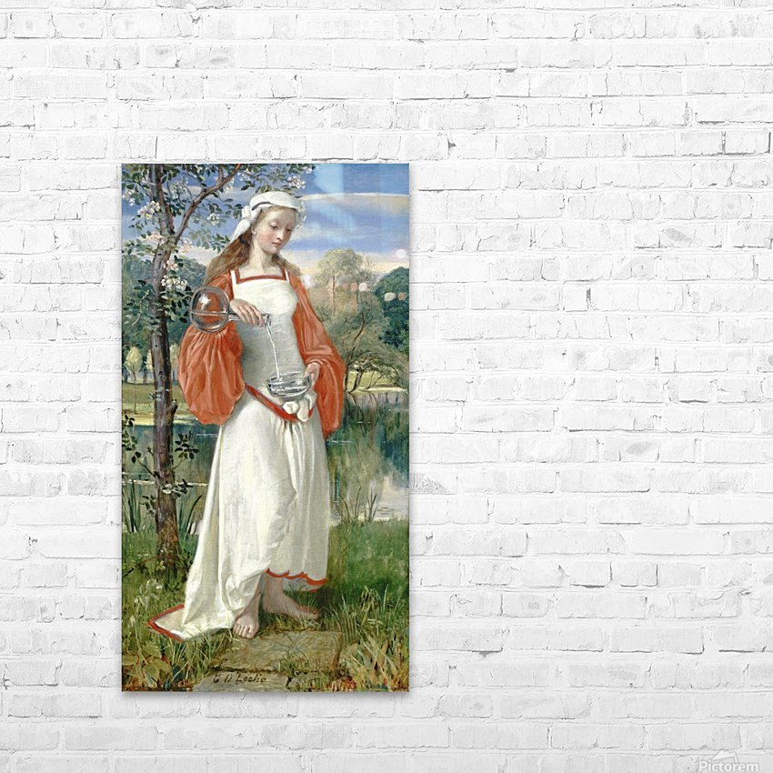 Allegorical Maiden in white dress HD Sublimation Metal print with Decorating Float Frame (BOX)
