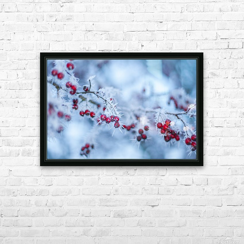 Winter flowers HD Sublimation Metal print with Decorating Float Frame (BOX)