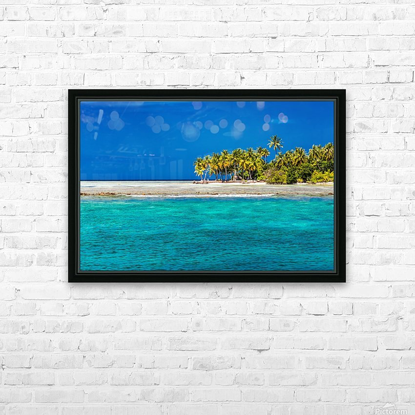 Tropical island background HD Sublimation Metal print with Decorating Float Frame (BOX)