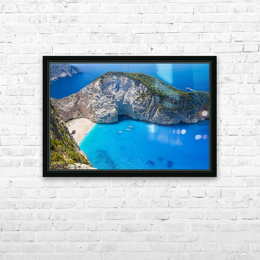 Amazing Navagio Beach in Zakynthos Island, Greece HD Sublimation Metal print with Decorating Float Frame (BOX)