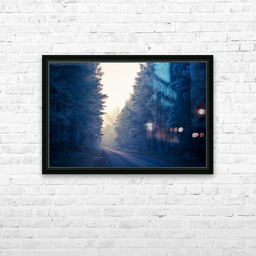 Winter road HD Sublimation Metal print with Decorating Float Frame (BOX)