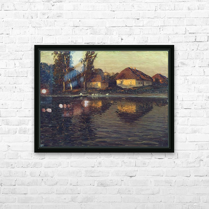 Evening in the Ukraine HD Sublimation Metal print with Decorating Float Frame (BOX)